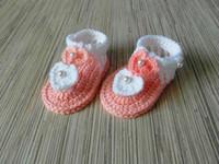 sandalias blancas de ganchillo al por mayor-Nuevo hecho a mano Crochet Bebé Sandalias Bebé Sandalias Rosa Blanco Crochet Verano Zapatos Chica 9cm, 10cm, 11cm