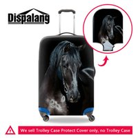Wholesale protective covers for luggage - Thicken Elastic Luggage Protective Cover Apply To 18-30 Inch Cases Cool Black Horse Suitcase Covers For Teenage Boys Mens Travel Accessories