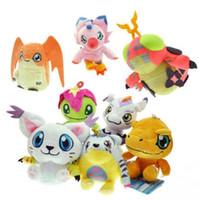 Wholesale wholesale digimon toys online - New Digimon Adventure Plush Toys Pendant Keychain Agumon Palmon Gomamon Tailmon Gabumon Patamon Dolls Size cm DR