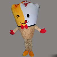 Wholesale ice mascot - New Style Adult Size Summer Ice-cream Costume Halloween Christmas Sweet Foods Cute Ice-cream Cartoon Mascot Clothing Party Fancy Dress
