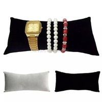Wholesale velvet watch holder pillows - Flannel Pillow Stand Holder Bangle Bracelet Watch Jewelry Display Organizer New