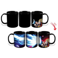 Wholesale Ceramic Mug Stainless Steel - Kamehameha Goku Mug Heat Reactive Coffee Cup Dragon Ball Z Mug Colored Changing Ceramic Magic Cups