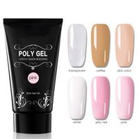 ingrosso rapidamente chiaro-30ml Poly Gel Nail Art French Manicure Trasparente Camouflage Polygel 6 Colori Quick Building Nail Estendere Gel UV Crystal HO92