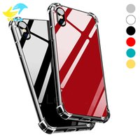Wholesale super light phone - Super Anti-knock TPU Mirror Phone Case Protect Cover Shockproof Soft Cases 6 Colors With Opp Bag For Iphone x