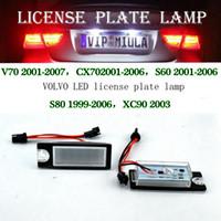 Wholesale led tail light plate for sale - Group buy 2pcs Error Free LED License Plate Light White k decoding unit Tail Light For VOLVO V70 CX70 S60 S80 XC90