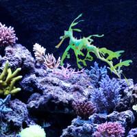 ingrosso sea decorations for home-Novità Acquario Silicone Fogliato Seadragon Per La Casa Fish Tank Decorazione Ornamento Morbido Simulazione Artificiale Sea Dragon Nuovo Arrivo 8wt B