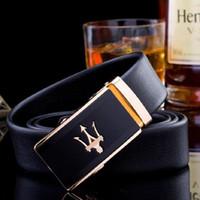 ingrosso fibbie a cintura per gli uomini marchiati-Cintura in pelle di marca all'ingrosso Cintura di lusso automatica fibbia cinture in vera pelle cintura jeans per gli uomini spedizione gratuita