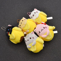 японские кулоны аниме оптовых-fashion lychee Japanese Anime Movie Bananya Plush Doll Key Chain Toy Bag Pendant Hot Gift For Fiends 5 Colors