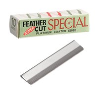 Wholesale feather trimmer - 10pcs set Eyebrow Trimmer Blades Eyebrow Cutter Equipment Super Feather Cut Special Platinum Coated Edge Razor Blades