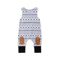 neugeborene größe baby jungen kleidung großhandel-2018 Neugeborenen Baby Jungen Mädchen Sleeveless Strampler Overall Outfits Kleidung einteilige Größe 0-24 Mt