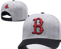 Wholesale red sox hat adjustable - Hot sale designing Red Sox Hats Men Women Baseball Caps Snapback Solid Colors Cotton Bone European American Styles Fashion hat