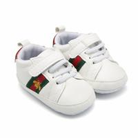 çift erkek ayakkabı toptan satış-Perakende 1 Çift Spor Bebek Ayakkabı Yenidoğan Erkek Kız İlk Walker Ayakkabı Bebek Prewalker Ayakkabı 44C