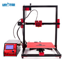 Wholesale printing machine parts - LMYSTAR D Printer Newest Kit Part with Filament E10 Plus Reprap I3 D Printing Machine Large Print Size x x mm