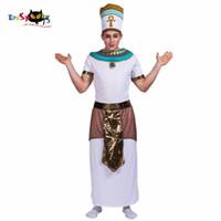 ingrosso costumi natali maschili-Re di Egitto Faraone Cosplay Uomini Costume di Halloween Abiti da festa di Natale Costumi da uomo adulto