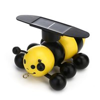 Wholesale hot education - Hot Solar energy powered honeybee toys Funny Solar Bee toy science and education toys for kids gifts