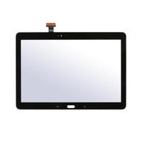 panel táctil para la nota al por mayor-10pcs / lot de la alta calidad de la pantalla táctil de cristal digitalizador Panel replacment piezas con la insignia para Samsung Galaxy Note 10.1 Edición P600 P601 P605