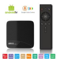 Wholesale android pc smart tv box for sale - Original M8S Pro L Android TV Box with Google Voice Bluetooth Remote Control Amlogic S912 Octa Core G G Smart K Mini PC G G Wifi