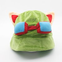 Wholesale teemo cosplay for sale - Hot game League of Legends cosplay cap Hat Teemo hat Plush Cotton LOL plush toys Hats