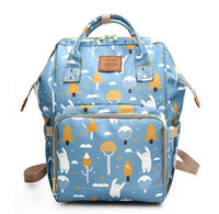 Wholesale Mother Baby Care - Mommy Diaper Bag Large Capacity Baby Nappy Bag Designer Nusing Fashion Travel Backpack Baby Care for Mother Kid