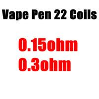 Wholesale E Flavours - Vape Pen 22 Coil Replacement Core Head 0.3ohm Flavour Chaser 5PCS Per Pack NiCr Material Dual Core E-Cigarette for Vape Pen 22 Kit