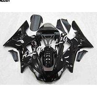 ingrosso yamaha yzf r1-Kit di carenature per motocicli in ABS bianco lucido nero per Yamaha YZF R1 2000 2001 YZF-1000 R1 00 01 Parti di carrozzeria