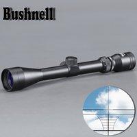 pontos de luzes venda por atacado-BUSHNELL 3-9X40 Riflescope Ajustável Verde Red Dot Caça Luz Tactical Scope Reticle Mira Óptica Scope para a Caça