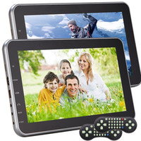 Wholesale mp3 portable multimedia player resale online - Headrest Portable car DVD Player for Car Dual DVD Player Car Monitor Multimedia Bits Gams HDMI included Remote Control