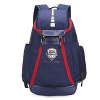 equipaje de viaje al por mayor-Mochilas de baloncesto Nuevo equipo olímpico de EE. UU. Paquetes de equipo Mochila Bolsos para hombre Gran capacidad Capacitación impermeable Bolsas de viaje Equipaje Envío directo