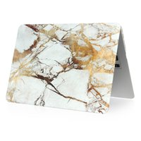 Wholesale retina tablet online - 4 Color For Macbook Air Pro Retina Touch Marble pattern Cases Full Protective Cover Case with opp packaging