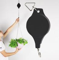 ingrosso piante da giardino decorazione-Puleggia per piante Garden Flower pot Stretch Hanger Hooks Home Storage Organizzazione Garden Tools Home Decoration Garden Supplies 2018