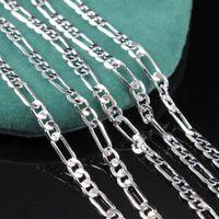 mens gümüş figaro toptan satış-2 MM 925 ayar gümüş İtalya erkek Figaro Zincir kolye moda Figaro Mens Kolye 16-30 inç Takı Ücretsiz Kargo
