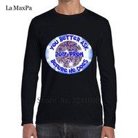 ingrosso immagini di uomini prom-Pazzo 2017 Prom Vuoi chiedere prima di lui Tee Shirts Uomini Immagini T-Shirt uomo stile inverno Mens Taglia S-3xl T Shirt Uomo