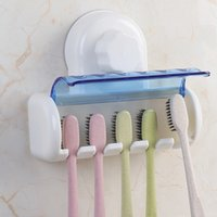 Wholesale stand cup holders for sale - Group buy Eco Friendly Easy Installion Toothbrush Suction Cups Holder Creative Toothbrush Wall Mount Stand Bathroom Tool