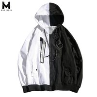 ingrosso v mens del rivestimento del collare-2018 Autunno New Large Size Coat Moda uomo Trend Casual Style Color Match Jacket Jacket V-Collar Mens monopetto giacche