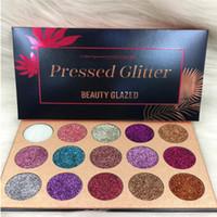 güzellik için enjeksiyon toptan satış-Güzellik Sırlı Glitter Enjeksiyon Preslenmiş Glitters Göz Farı Elmas Gökkuşağı Makyaj Kozmetik 15 Renk Göz Farı Mıknatıs Paleti