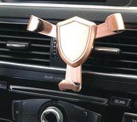 hava yastığı tutucu toptan satış-2018 Mini Hava Firar Cep Telefonu Araç Montaj Yerçekimi Bağlantı Araç Tutucu Evrensel Oto Kilit Metal Araba Cep Telefonu Standı Tutucu A703