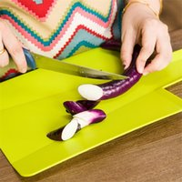 Wholesale Unique Fruit - Chopping Board Non Slip Plastic Foldable Block Oblong Shape To Cut Fruits Vegetables Light Cutting Boards Unique Style 3 6rh Y Z