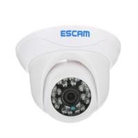 mini cámaras al aire libre ip dome al por mayor-Escam Snail QD500 Onvif Cámara Dome P2P HD para interiores y exteriores Cámara de seguridad con máscara de privacidad HD y cámara IP de visión nocturna