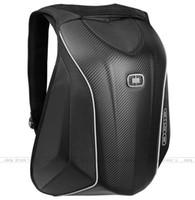 bilgisayar zor toptan satış-2018 Yeni Gelenler OGIO Mach 5 Şövalye Sırt Çantası Su Geçirmez Motocross sırt çantası bilgisayar çantası karbon fiber Sert kabuk