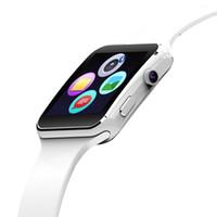 neues kartentelefon großhandel-2018 Neue Ankunft X6 Smart Watch mit Kamera Touchscreen Unterstützung SIM Karte Bluetooth Smartwatch für iPhone Xiaomi Android Phone