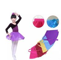 şirin şifon elbiseleri toptan satış-Sevimli kız giyim Dans etek Öğrencilerin performans giyim Şifon Bale etek elbise Öğrenci orta okul Yaz için Çok renkler B11