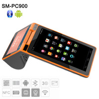 Wholesale black terminal - Android Mini Terminal with Printer All in One Android Restaurant Touch Screen System SM-PC900