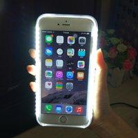 iphone aydınlatma paketi toptan satış-LED Işık Zamanlayıcı Işık Cep Telefonu Kılıfı Için iphone X 6 7 8 artı Perakende Paketi Ile Samsung Galaxy S6 S7 Kenar