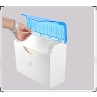 Wholesale bathroom wall cover - Top Quality Toilet Paper Holder With Cover Square Box Hotel Plastic Paper Tissue Box Wall Mounted Bathroom Accessories Wholesale