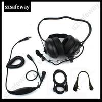 vértice walkie talkie al por mayor-Auriculares con cancelación de ruido walkie talkies para el Vertex VX231 de Heavey