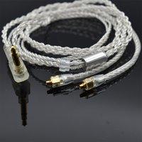 kablo olayı toptan satış-Kulaklık Kablo 4 Çekirdek OCC Gümüş kaplama Karışık Örgülü HiFi MMCX Kulaklık Nobyin S8 ve AZUR3 için Kablo Yükseltme Nobyin