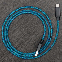 tipo de hilo al por mayor-1 M / 2 M / 3 M Micro USB Cable trenzado Cargador de sincronización de datos Star Yarn 5V 2.4A Cables de tipo C de carga rápida para teléfono celular Samsung