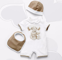 ingrosso abiti da sera-Fashion Joker Newborn Toddler Infantil Neonati maschi Neonate Unisex Breve Pagliaccetto Tuta Outfit Tuta Abbigliamento 0-24 M