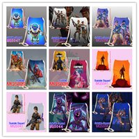 Wholesale cosplay girls student online - Fortnite Cosplay Canvas Drawstring Bag Unisex Adult Kids Cartoon Backpack Shopping Beach bags students boys girls School shoulder Bags best