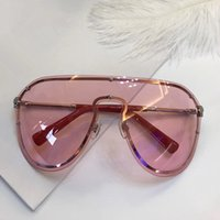 Wholesale big coats for men - 2180 Sunglasses For Women Brand Design Rimless Frame Connection Lens UV400 Coating Mirrorr Lens Steampunk Summer Big Style Comw With Case